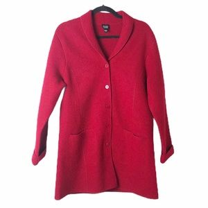 Eileen Fisher structured wool coat M